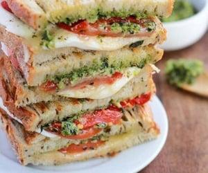 food, sandwich, and mozzarella image