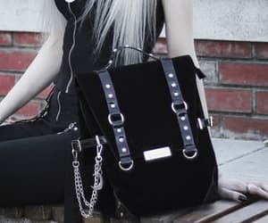 accessories, goth, and bag image