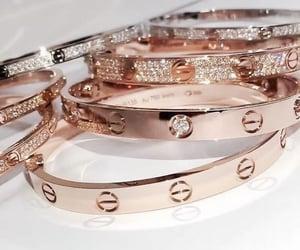 bracelet, diamond, and gold image