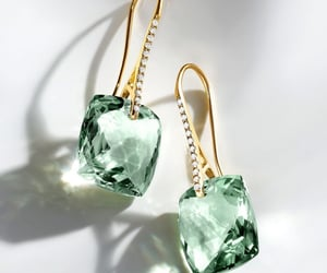 earrings, fashion, and gemstones image