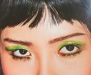 makeup, eyes, and kpop image