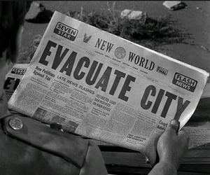 city, hollywood, and news paper image