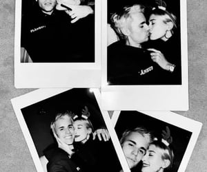 famous couple, hailey, and justin bieber image