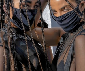 model, black, and braids image