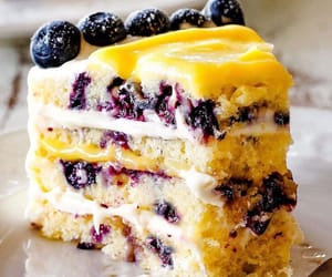 blueberry, cake, and cream cheese image