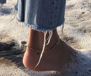 beach, denim, and jeans image