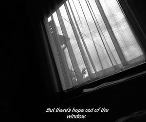 black and white, hope, and Lyrics image