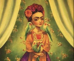 Benjamin Lacombe, colorful, and Frida image