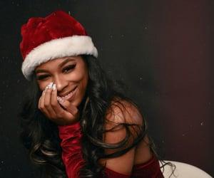 christmas, hair, and photoshoot image