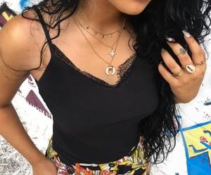 black, long hair, and snapchat image