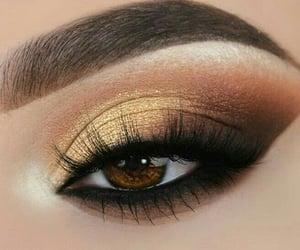 eyes, eyeshadow, and gold image