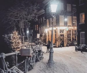 christmas, winter, and night image