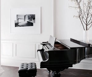 piano, home, and music image