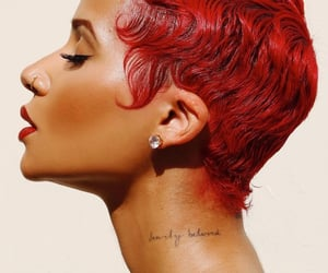 fashion, side profile, and finger waves image