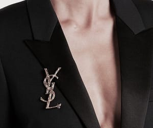 fashion, YSL, and black image