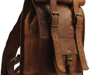 backpack, leather backpack, and leather rucksack image