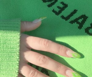 beautiful, green, and hand image