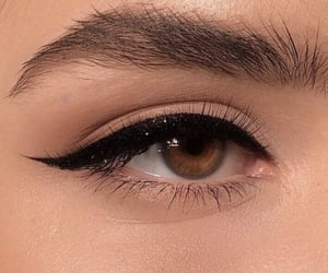 eye, eyeliner, and makeup image