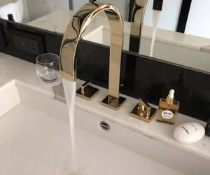 bathroom, home, and sink image