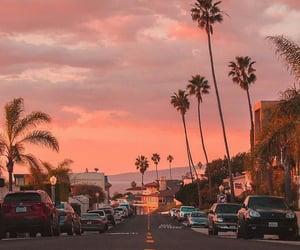 sunset, travel, and beach image