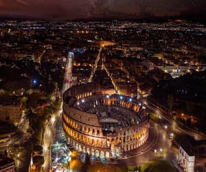 night, city, and italy image