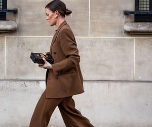 black, brown, and fashion image