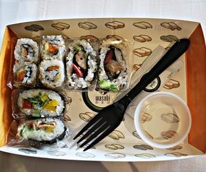 london, sushi, and take away image