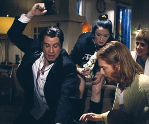 pulp fiction, John Travolta, and uma thurman image