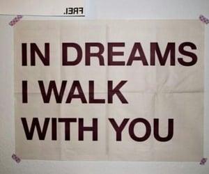 dreams, walk, and love image