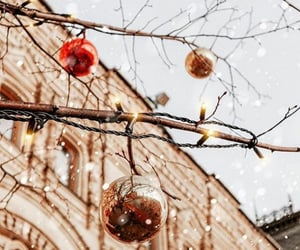 article, christmas balls, and snowball fight image