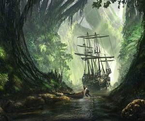 adventure, ship, and fanart image