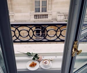 paris, rose, and coffee time image