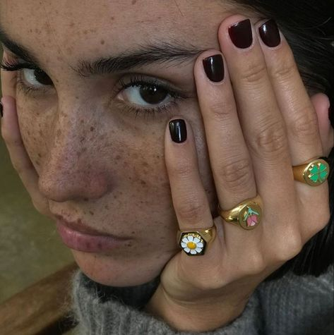 girl, pretty, and rings image