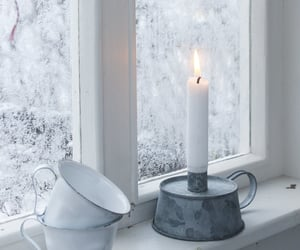 candle, winter, and cold image