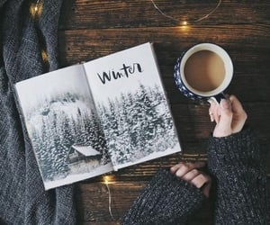coffee, winter, and book image
