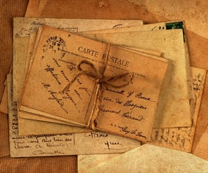 vintage, Letter, and letters image