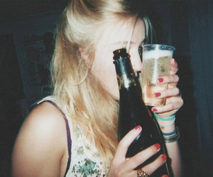 girl, drink, and alcohol image