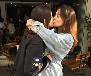 lesbian, girl, and love image