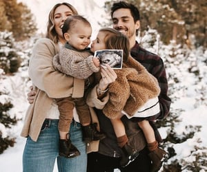 baby, couple, and daughter image