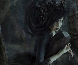 coffin, eerie, and fantasy image