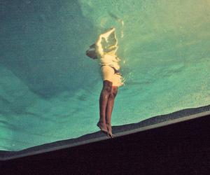 water, girl, and pool image