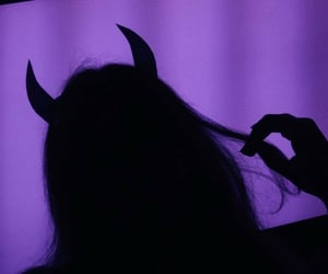 Devil, aesthetic, and purple image