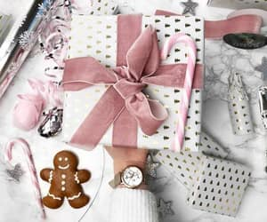 christmas, gingerbread, and pink image
