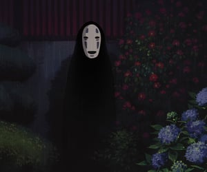 spirited away, anime, and no face image