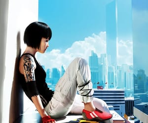 parkour, skyline, and mirror's edge image