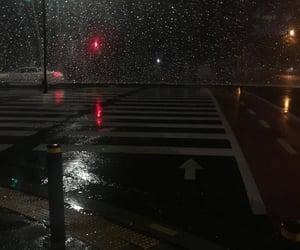 aesthetic, rain, and night image