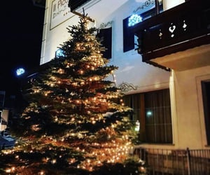 building, christmas, and decorations image