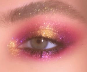 pink, eyeshadow, and glitter image