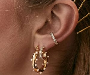 earrings, gold, and jewellery image