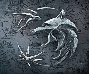 swallow, the witcher, and wolf image